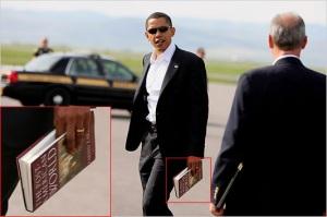 Obama reading the Post American World jpg