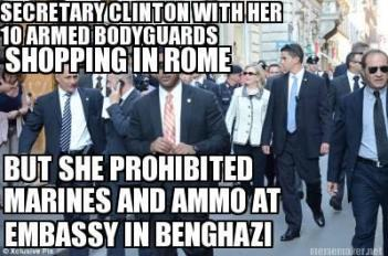 hillary 10 guards while shopping in rome