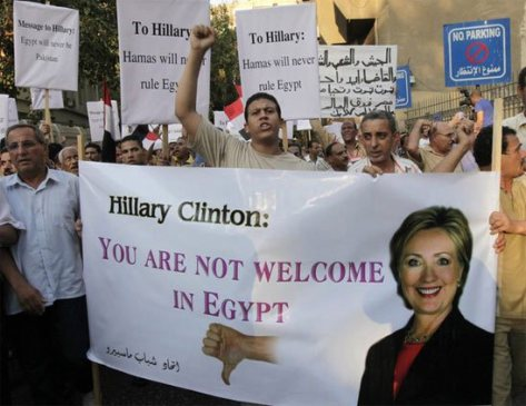 hillary clinton you are not welcome in Egypt